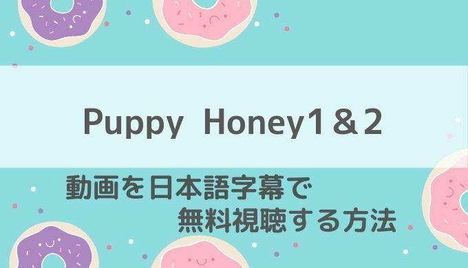 PuppyHoney1&2日本語字幕配信