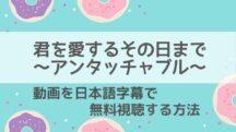 君を愛するその日までアンタッチャブルの動画を無料で1話から最終回まで視聴する方法!日本語字幕付き韓国ドラマの2021年最新配信情報もご紹介!
